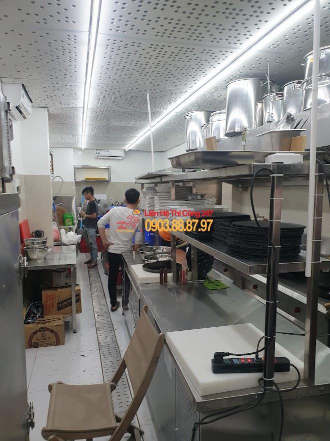 Thi Công 247 - Thi công bếp nhà hàng đạt chuẩn vệ sinh an toàn thực phẩm