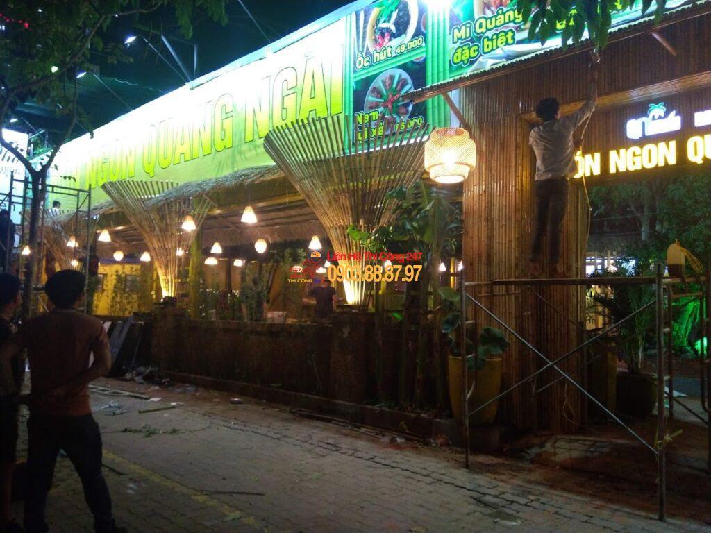 Thi công nhà hàng Món Ngon Quảng Ngãi